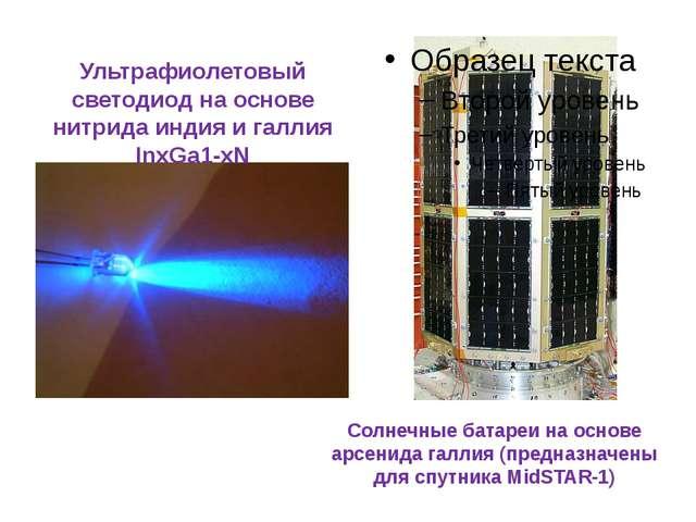 Солнечные батареи на основе арсенида галлия (предназначены для спутника MidST...