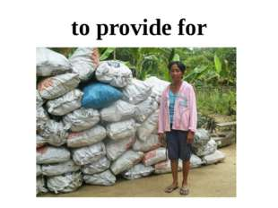 to provide for