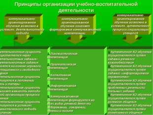 Принципы организации учебно-воспитательной деятельности коммуникативно- ориен