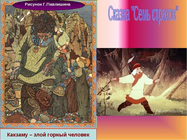 Рисунок Г.Павлишина Какзаму – злой горный человек
