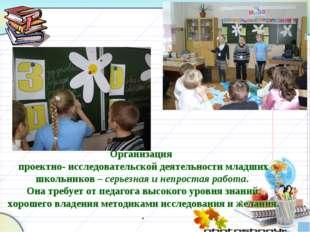 Организация проектно- исследовательской деятельности младших школьников – се