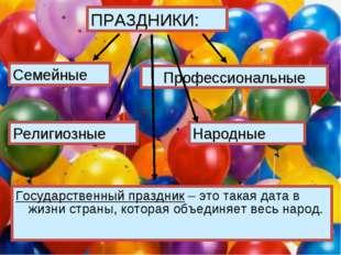 Государственный праздник – это такая дата в жизни страны, которая объединяет