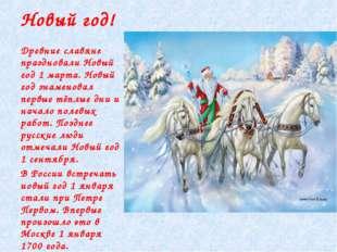 Новый год! Древние славяне праздновали Новый год 1 марта. Новый год знаменов