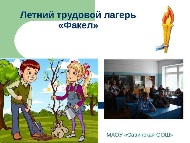 Летний трудовой лагерь «Факел» МАОУ «Савинская ООШ»