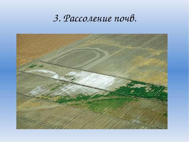 3. Рассоление почв.