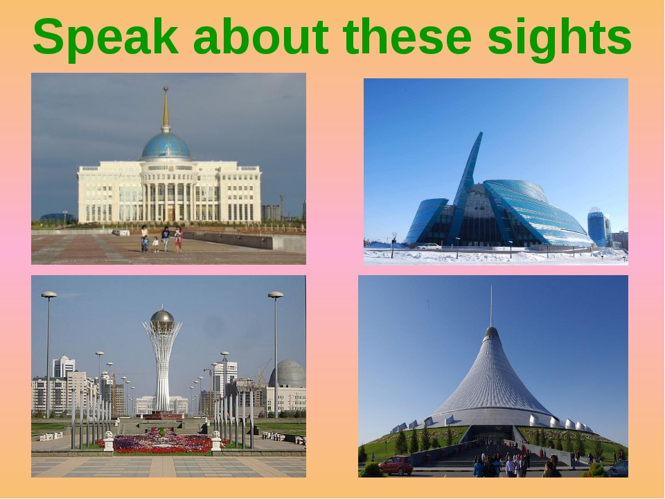 Speak about these sights