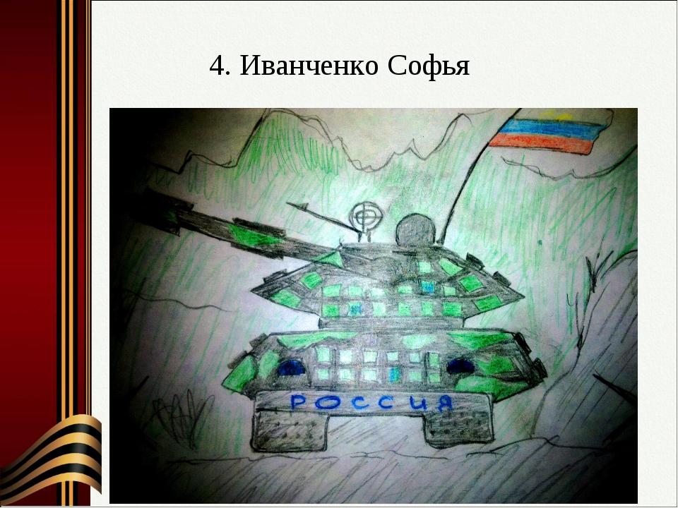4. Иванченко Софья