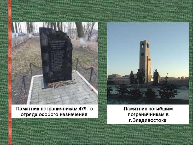 Памятник пограничникам 479-го отряда особого назначения Памятник погибшим пог...
