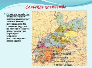 Сельское хозяйство Волго-Вятского района располагает значительным потенциалом