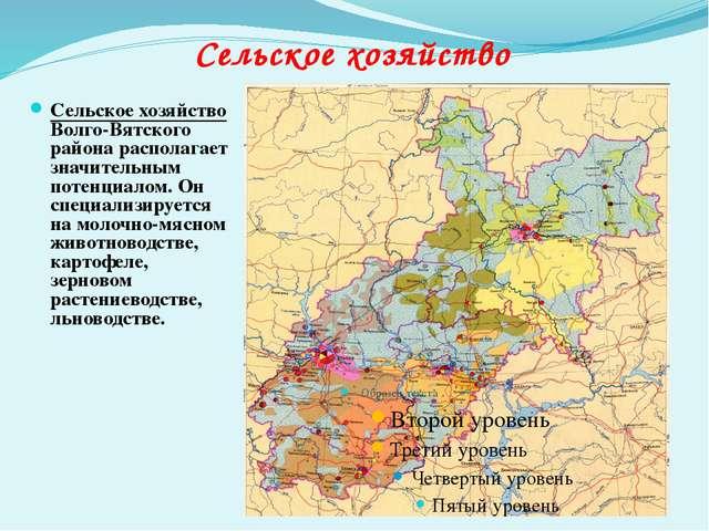Сельское хозяйство Волго-Вятского района располагает значительным потенциалом...