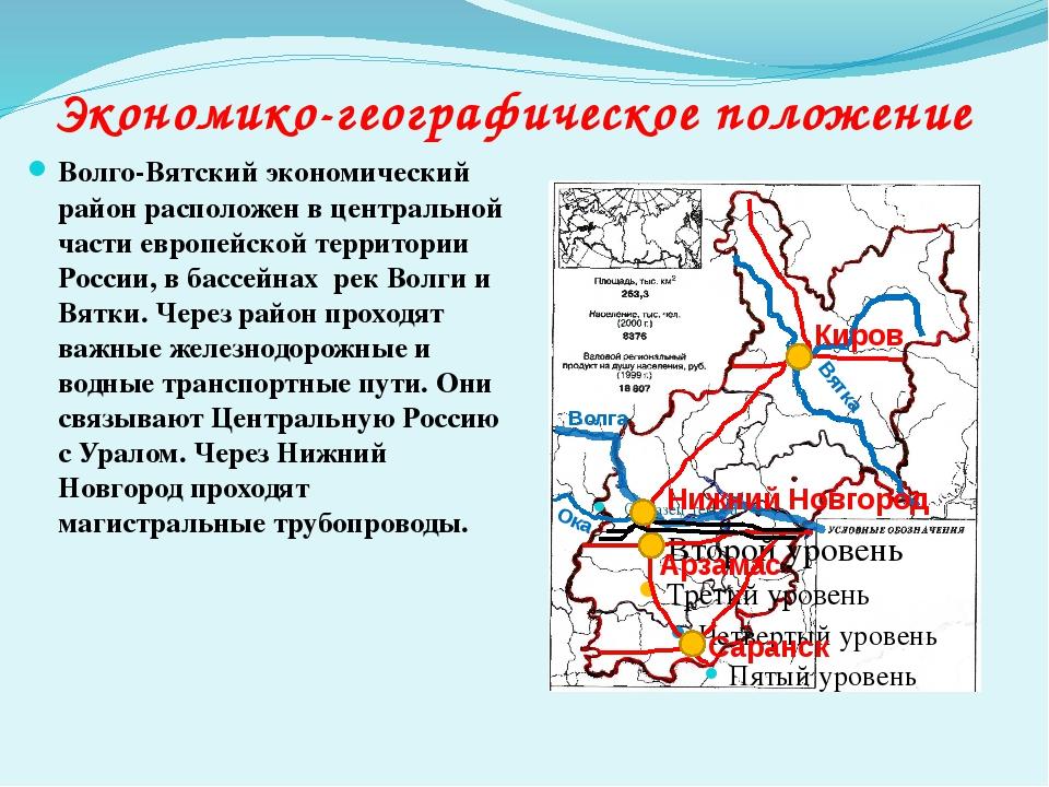 Волго-Вятский экономический район расположен в центральной части европейской...