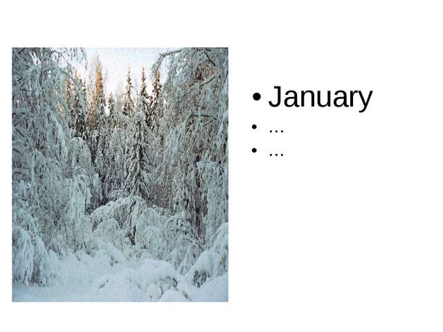 January … …