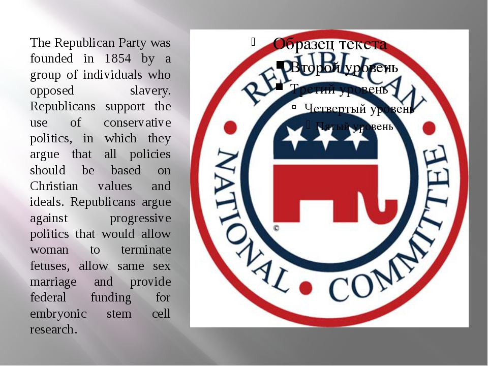 The Republican Party was founded in 1854 by a group of individuals who oppose...