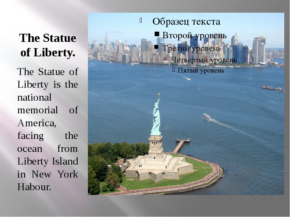 The Statue of Liberty. The Statue of Liberty is the national memorial of Amer...