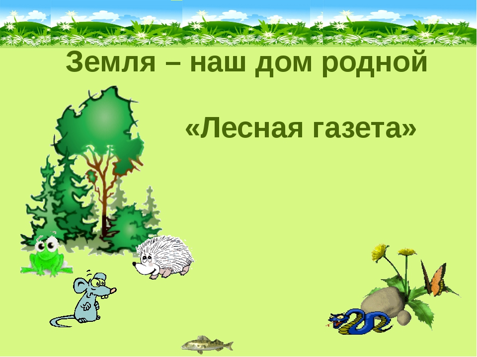 Земля – наш дом родной «Лесная газета»