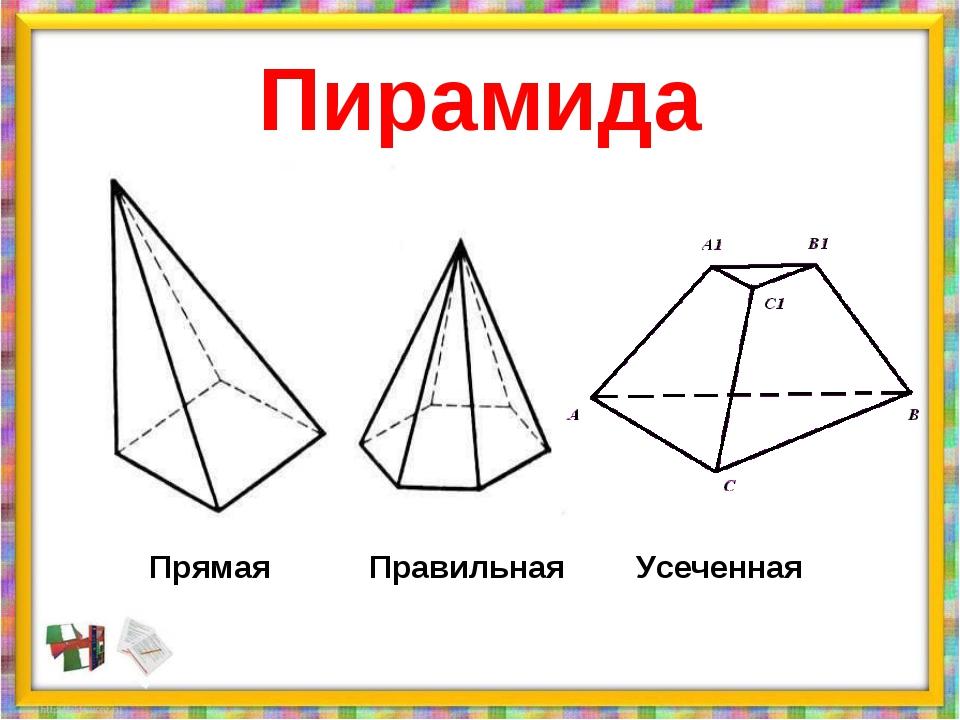 Пирамида Прямая Правильная Усеченная