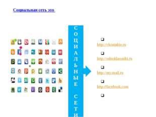 Социальная сеть это - платформа,онлайн-сервисиливеб-сайт, предназначенные