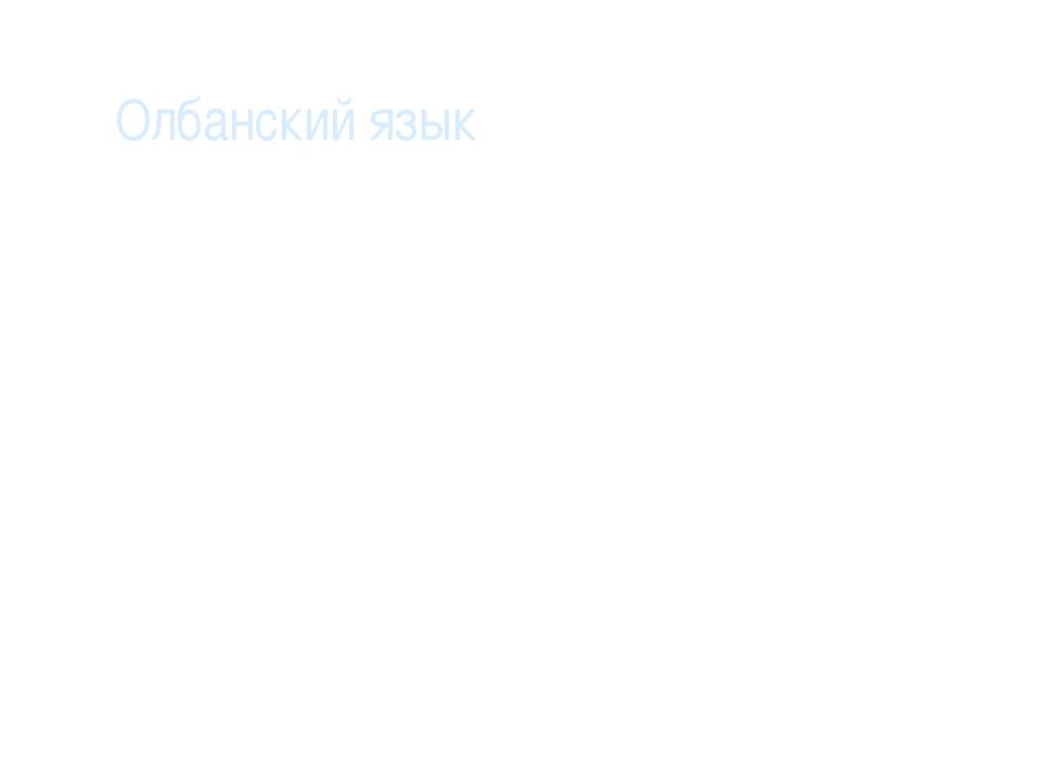 Олбанский язык Это, во-первых, правило: «пиши, как слышишь», во-вторых, напи...