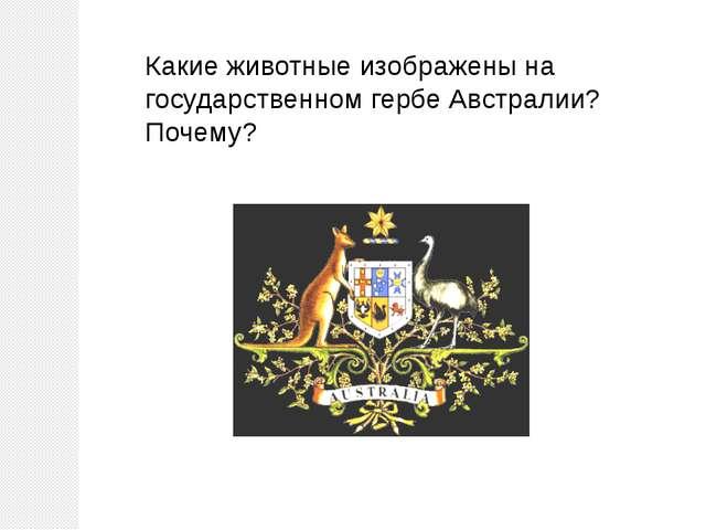 Какие животные изображены на государственном гербе Австралии? Почему?