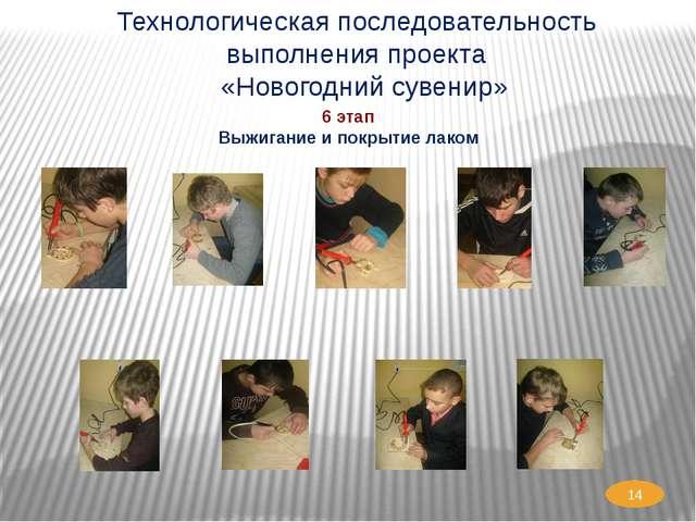 Технологическая последовательность выполнения проекта «Новогодний сувенир» 6...