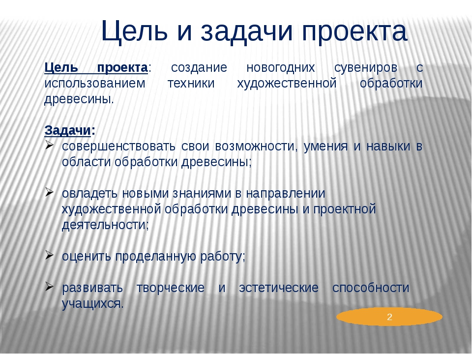 Цель и задачи проекта Цель проекта: создание новогодних сувениров с использов...