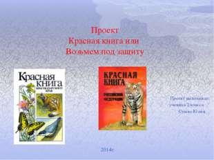 Проект Красная книга или Возьмем под защиту Проект выполнила: ученица 2 к