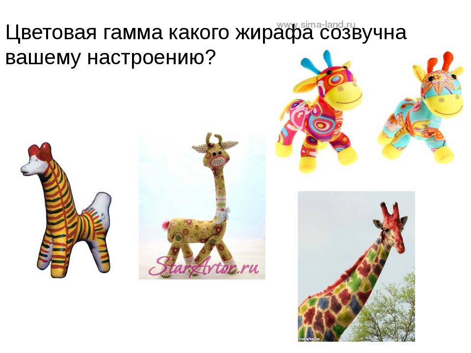 Цветовая гамма какого жирафа созвучна вашему настроению?