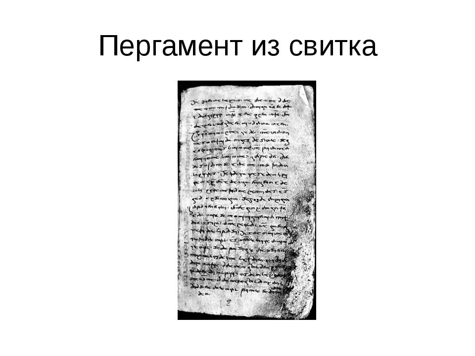 Пергамент из свитка