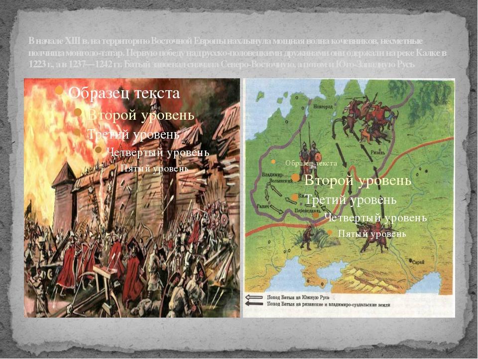 В начале XIII в. на территорию Восточной Европы нахлынула мощная волна кочевн...