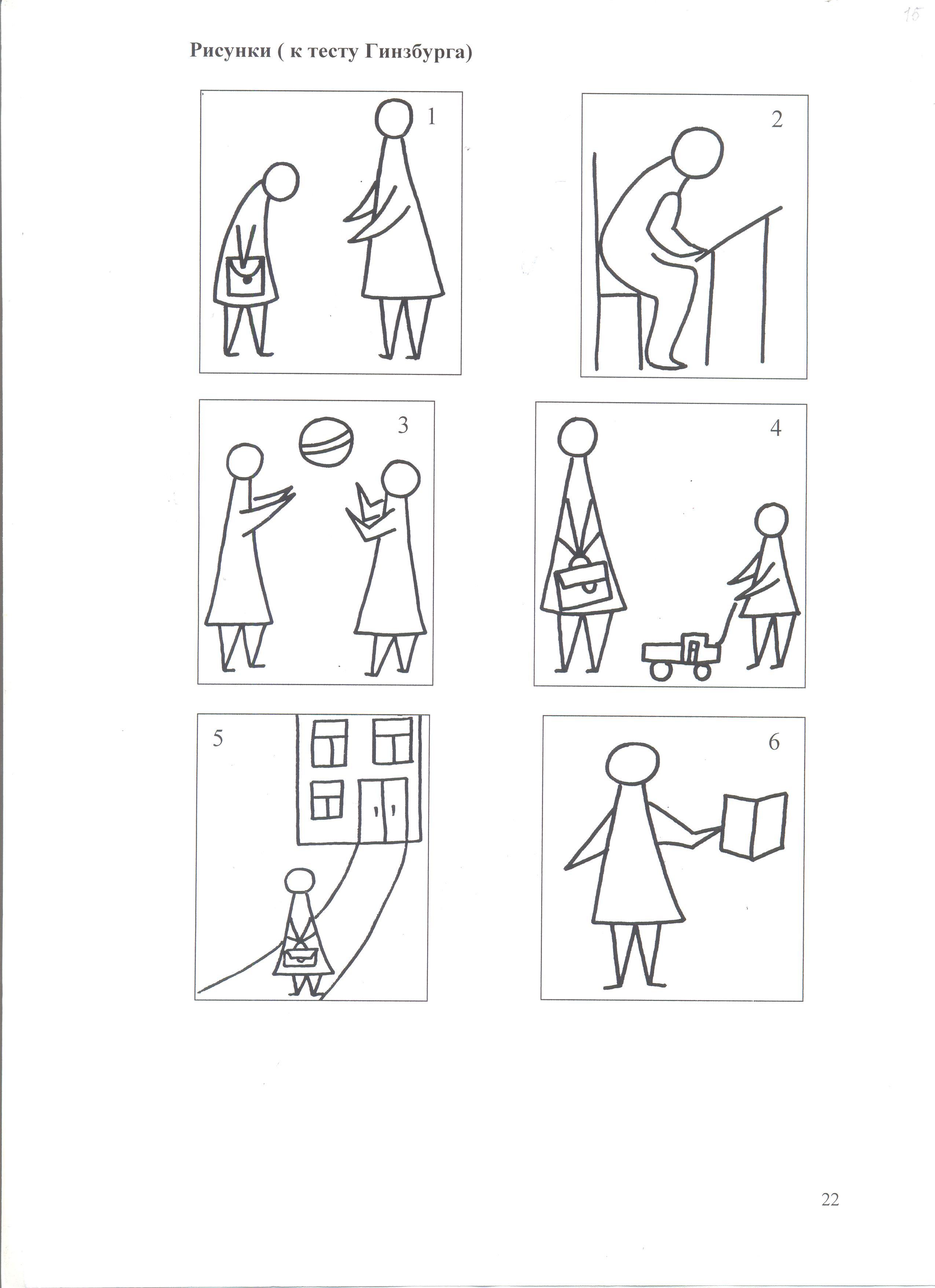 При психологическом тесте как правильно нарисовать человека