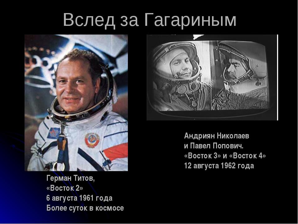 Вслед за Гагариным Герман Титов, «Восток 2» 6 августа 1961 года Более суток в...