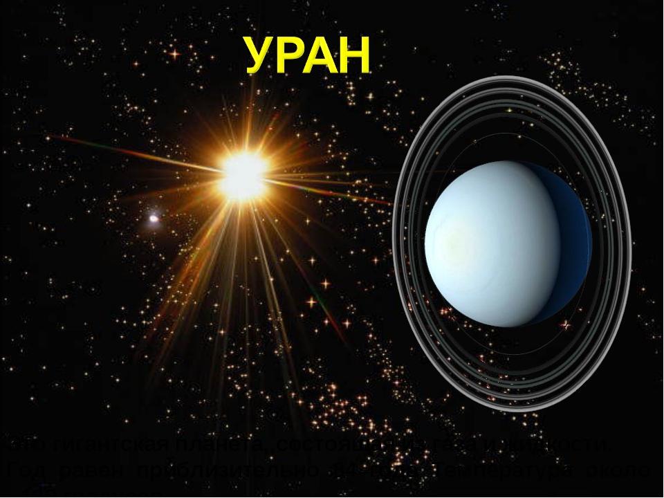 Это гигантская планета, состоящая из газа и жидкости. Год равен приблизительн...