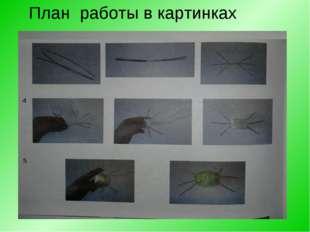 План работы в картинках