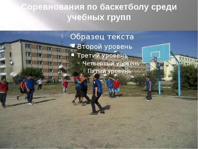 Соревнования по баскетболу среди учебных групп
