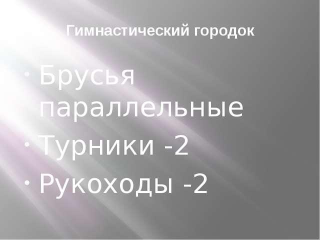 Гимнастический городок Брусья параллельные Турники -2 Рукоходы -2