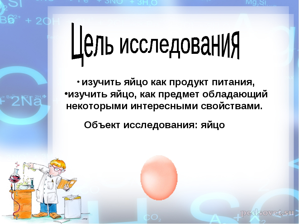 изучить яйцо как продукт питания, изучить яйцо, как предмет обладающий некот...