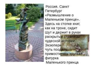 Россия. Санкт Петербург «Размышление о Маленьком принце». Здесь на стопке кн