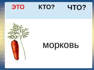ЧТО? КТО? ЭТО морковь