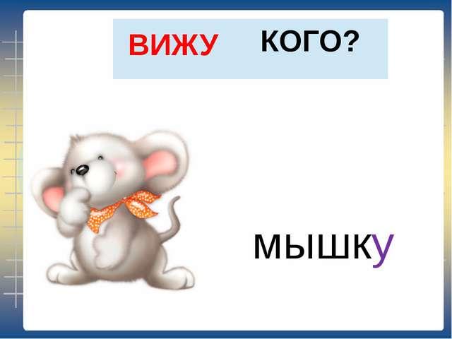 КОГО? ВИЖУ мышку