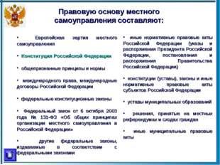 Европейская хартия местного самоуправления Конституция Российской Федерации