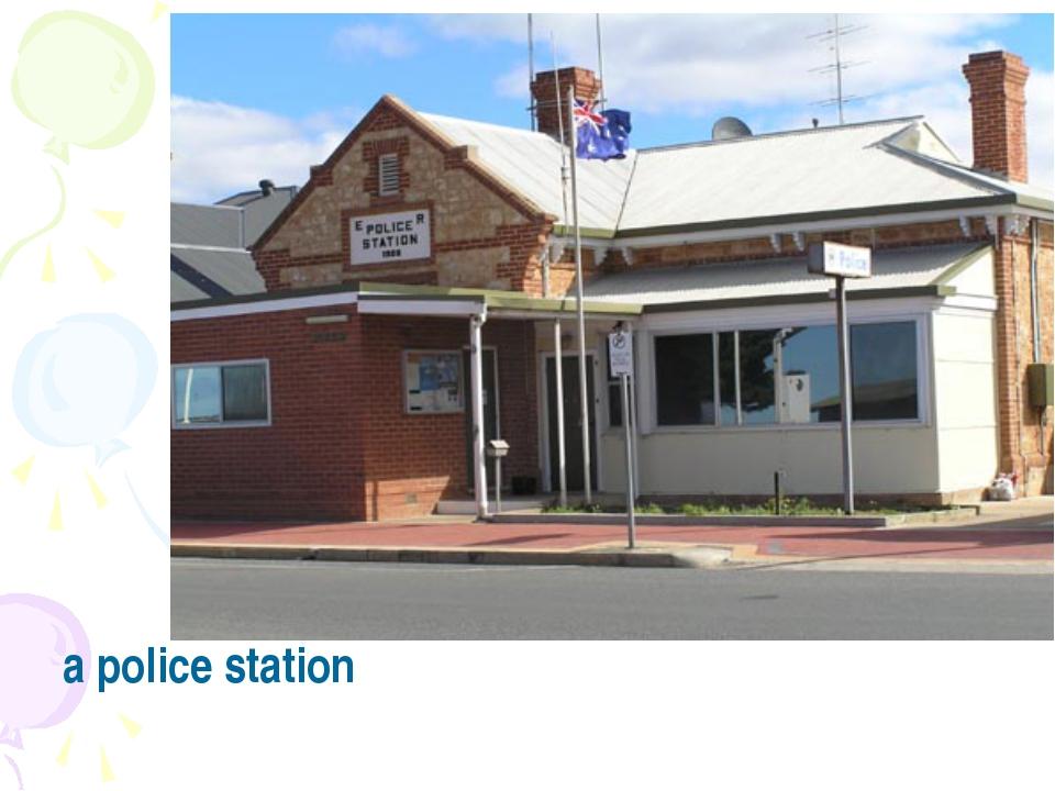 a police station