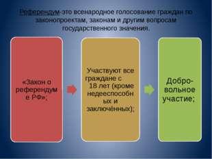 Референдум-это всенародное голосование граждан по законопроектам, законам и д