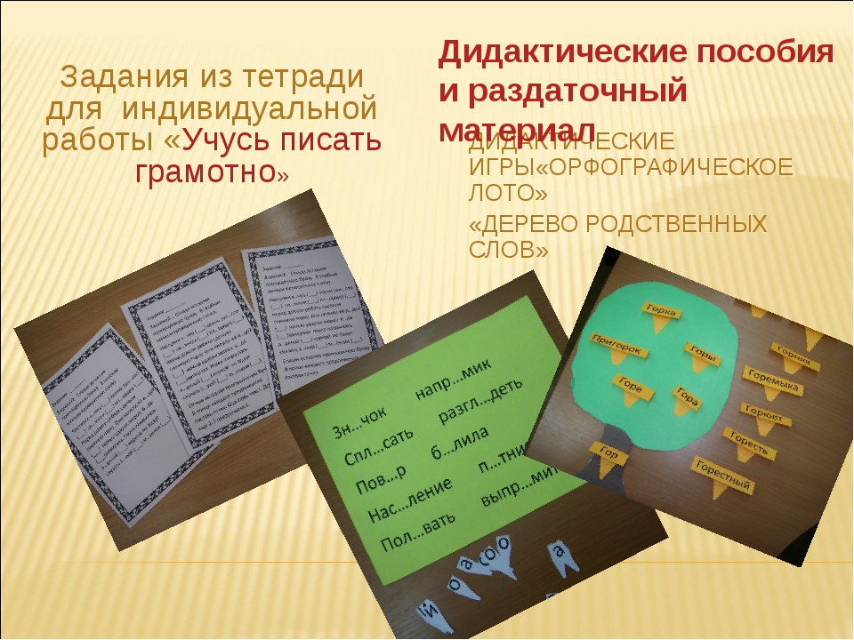 Задания из тетради для индивидуальной работы «Учусь писать грамотно» ДИДАКТИЧ...