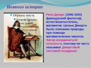 Немного истории Рене Декарт (1596-1650) французский философ, естествоиспытате