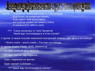 I группа « Прометей освобождённый» А.С Испольнов . Ещё болит не клеванная печ