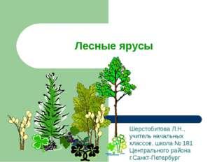 Лесные ярусы Шерстобитова Л.Н., учитель начальных классов, школа № 181 Центра