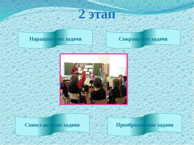 2 этап Наращивание задачи Сокращение задачи Сопоставление задачи Преобразован...