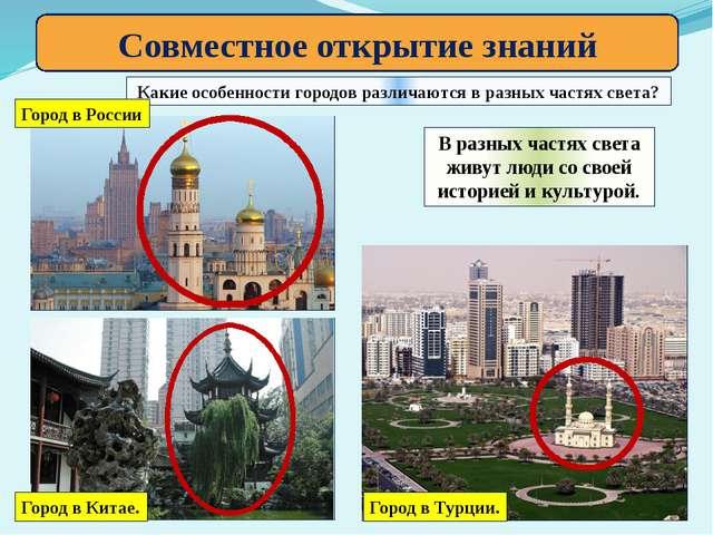 Совместное открытие знаний Какие особенности городов различаются в разных час...