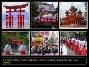 В Японии распространен Синтоизм, обожествляющий природу (солнце, горы, дерев