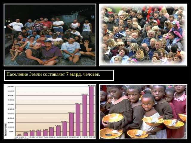 Население Земли составляет 7 млрд. человек.